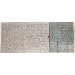 Two 1852 Gold Rush Downieville letters with Content   (126732)