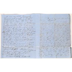 1854 French Corral Letter with Great Content  (126730)