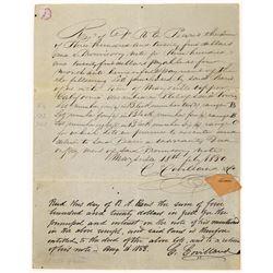 Marysville 1850 Gold Rush Coverless Letter  (126733)