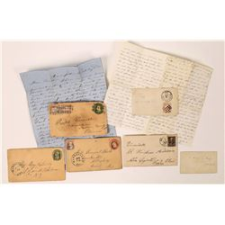 Marysville Postal Collection: Five different cancels and one Valentines Cover (three letters)  (1238