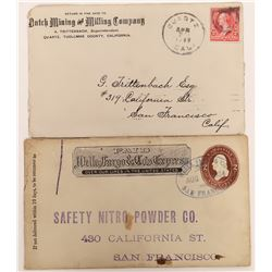 Dutch Mining and Milling Company Corner Advertising Cover and Safety Nitro Powder Co Covers  (123782