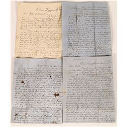 1850  Gold Rush Trail Coverless Letters (4) - Independence to Sacramento  (126729)