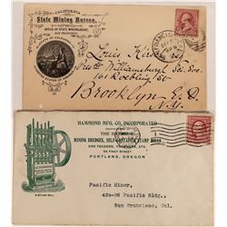 Two pictorial mining Covers; San Francisco and Portland  (123776)