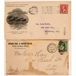Two San Francisco Navigation Company Advertising Covers  (113020)