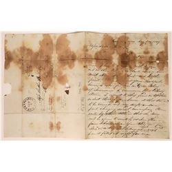 Choice Letter Negotiating a Secure Shipping of $20,000 to $25,000 of Gold Dust, San Francisco, 1849