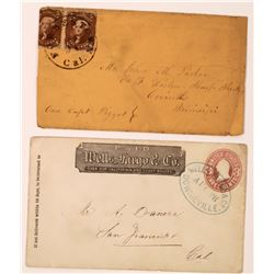 Two Sierra County Covers: Downieville and Forbestown (Civil War Related)  (123799)