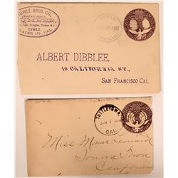 Two Gold Country Post Marked Covers  (116224)