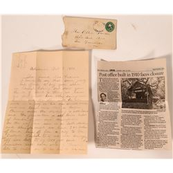Three Rivers Cover and letter, 1890.  (110192)