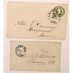 Two Yuba County Covers: Foster's Bar and 1862 Camptonville  (123803)