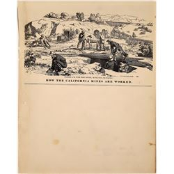 Lettersheet - How the California Mines are Worked   (126750)