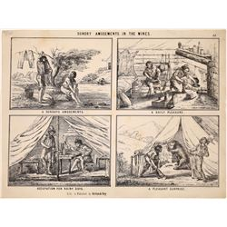 Lettersheet - Sundry Amusements in the Mines   (126743)