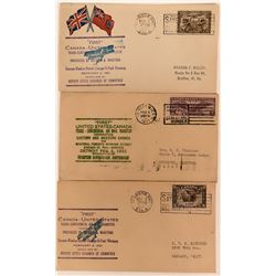 United States Canada Trans-Continental Air Mail Transfer Covers  (115053)