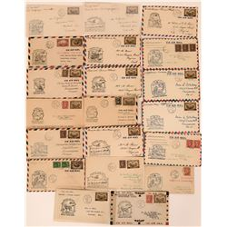1934 Canadian First Flight Air Mail Covers (20)  (116354)