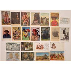 Apache Postcards and Apache Railway Pass  (125469)