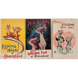 Three Different Disney Squeaker Post Cards  (123511)