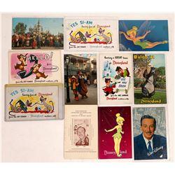 Walt Disney and his Entourage (Tinker Bell, Baloo, Four Art Corner Cards, etc.)  (123516)