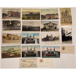 Benicia, California Postcards, AOUW Cards, Train Ticket (16)  (125738)