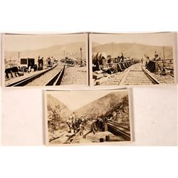 Caliente, CA Railroad Construction Postcards - 3  (126814)
