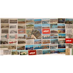 Newport and Laguna Beach, CA, Postcards - 49  (126199)