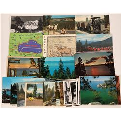 Lake Tahoe and Surrounding Area Post Cards.  (125531)