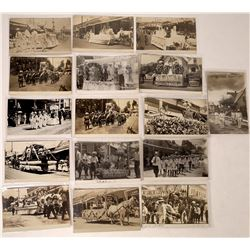 Nevada City and Grass Valley Parade Real Photo Postcards  (122531)