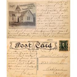 Rare Postcard From Panama, California  (126502)