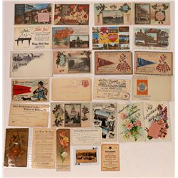 Sacramento Greeting Postcards & Ephemera - 28 pieces  (126822)