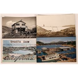 Shasta Dam Historical Postcard Collection - Lot of 4  (126583)