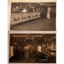 Stockton, Cal. Saloon Interiors RPCs (2)  (127342)