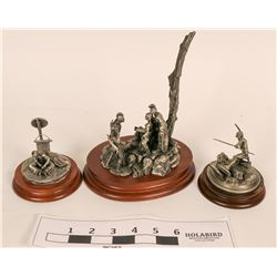 Pewter Native American Figurines by Chilmark (3)  (120643)