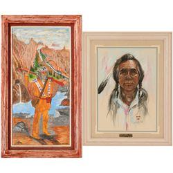 Native American Art, 2 Paintings  (117051)