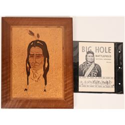 Inlay Native American Portrait  (117459)