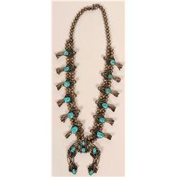 Vintage Navajo Turquoise Squash Blossom  (117007)