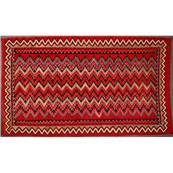 Navajo Red Mesa Native American Rug - 5 ft x 8.5 ft - Beautiful Example!  (122244)
