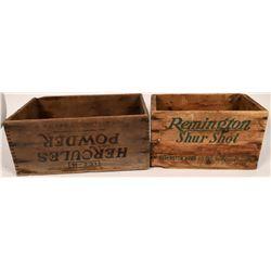 Hercules Powder & Remington Shur Shot Wood Boxes  (125985)