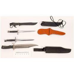 Four large knives/ bayonets  (114448)