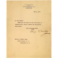 Admiral of the Navy Letter Signed by George Dewey  (113780)