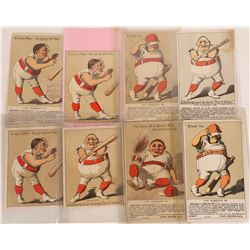 Red Belt Baseball Advertising Cards  (125718)