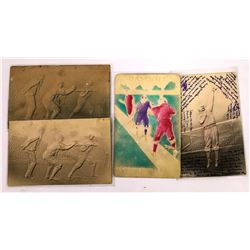 Embossed Baseball Themed Postcards  (125936)