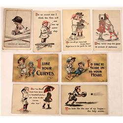 Humorous & Amorous Baseball  Postcards  (125702)