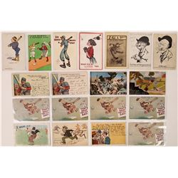Humorous Baseball Postcards  (125930)