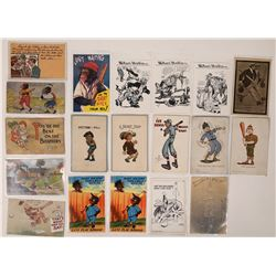 Humorous Baseball Postcards  (125969)