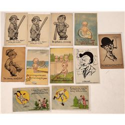 Kid Humor Baseball Themed Postcards  (125700)