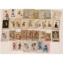 Youth Baseball Themed Postcards  (125935)