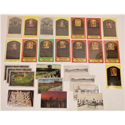 Baseball Hall of Fame Postcards  (125451)