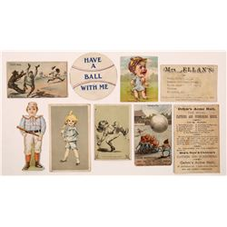 Victorian Era Baseball Advertising Ephemera & Cards  (125839)