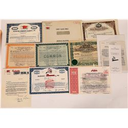 Baseball Stock Certificate Collection  (124724)