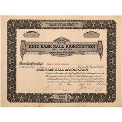 Enid, Oklahoma Baseball Stock Certificate  (126793)