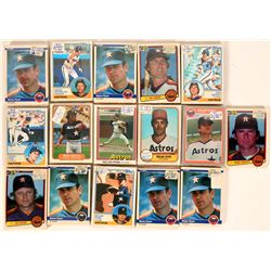 Fleer Astros Baseball Cards from the 1983 season  (110394)