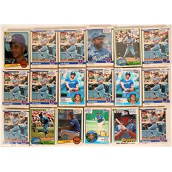 Fleer Braves Baseball Cards from the 1984 season  (110392)